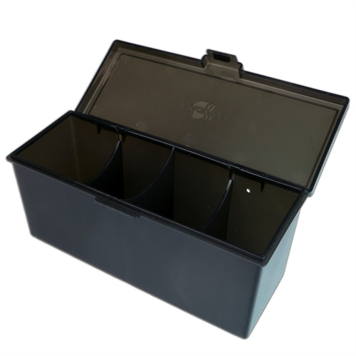 4 Compartment Storage Box Sort - Deck Box - Kort tilbehør