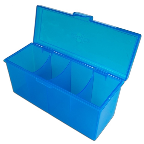 4 Compartment Storage Box Blå - Deck Box - Kort tilbehør