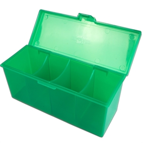 4 Compartment Storage Box Grøn - Deck Box - Kort tilbehør