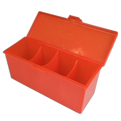 4 Compartment Storage Box Rød - Deck Box - Kort tilbehør