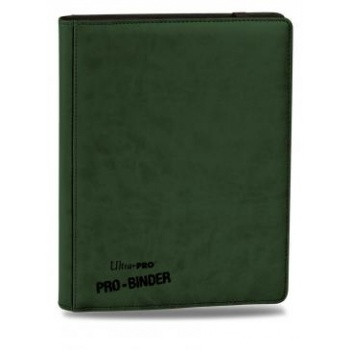 Kort tilbehør - 9-Pocket Portfolio - Green Leather - Samle Mappe