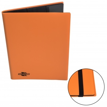 9-Pocket Premium Album - Orange - Kortspils Samlemappe