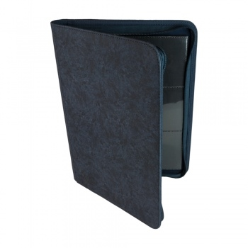9-Pocket Premium Zip-Album - Blue - Kortspils Samlemappe