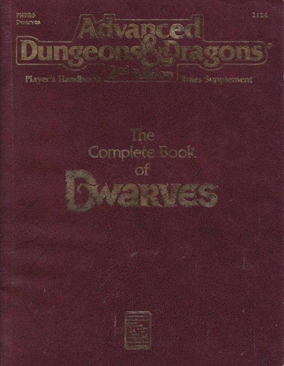 Advanced Dungeons & Dragons 2nd - Players Handbook Rules Supplement - The Complete Book of Dwarves (B Grade - Biblioteks udgave)) (Genbrug)