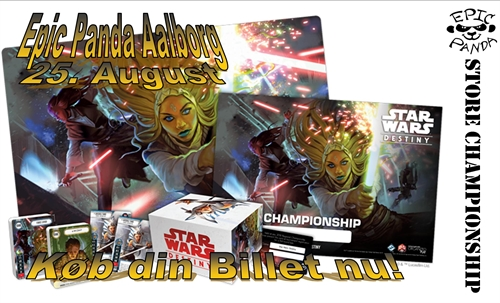 Aalborg billet - Star Wars Destiny - Store Championship 2018 Turnering (25. August kl.10.00)