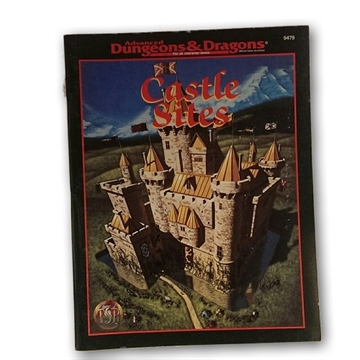 Advanced Dungeons & Dragons - Castle Sites - Rollespilsbog (Genbrug)