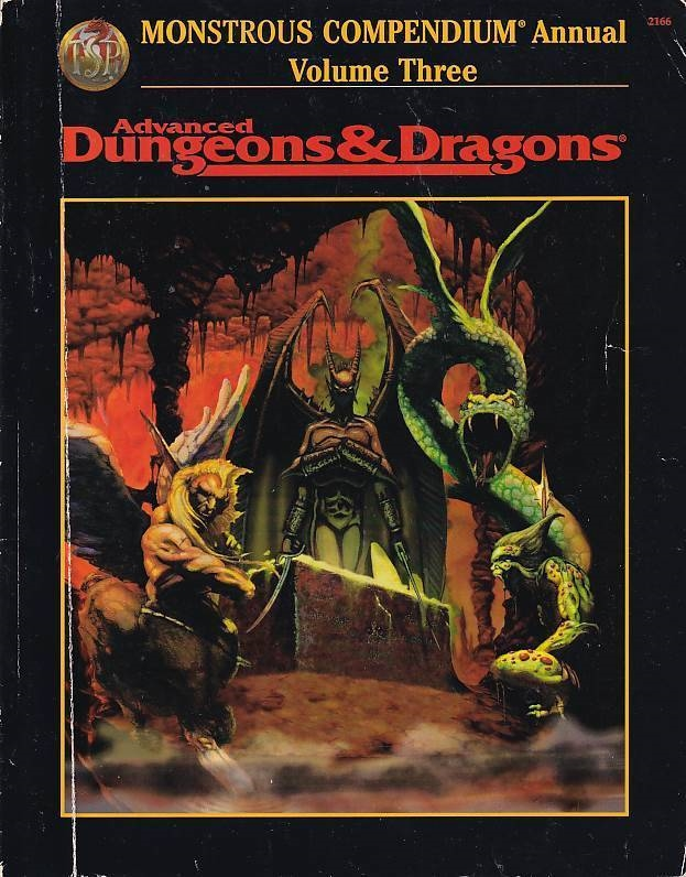 Advanced Dungeons & Dragons - Monsterous compendium annual volume Three (Genbrug)