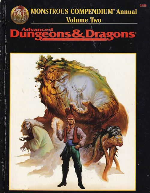 Advanced Dungeons & Dragons - Monsterous compendium annual volume two (Genbrug)