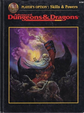 Advanced Dungeons & Dragons 2nd edition - Players Option Skills & Powers (Genbrug)