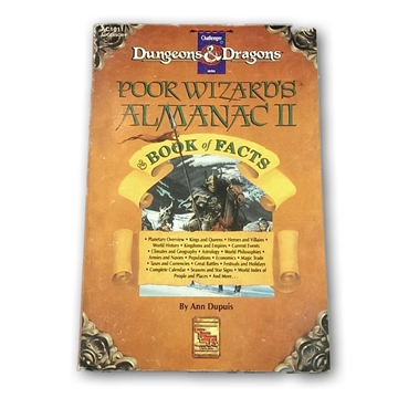 Advanced Dungeons & Dragons - Poor Wizards Almanac II Book of Facts - Rollespilsbog (Genbrug)