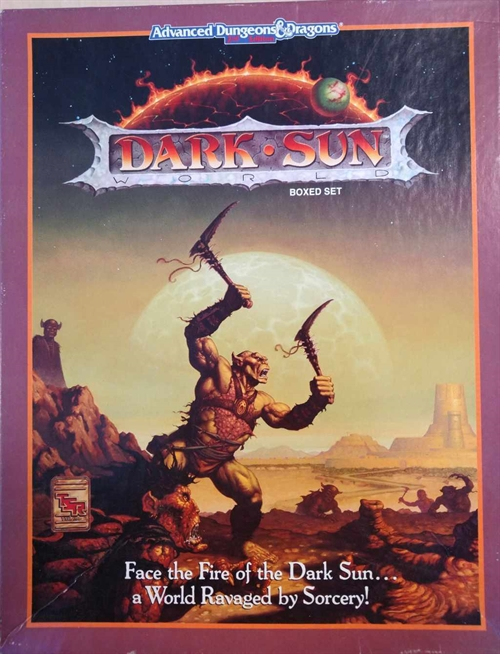 Advanced Dungeons & Dragons 2nd Edition - Dark Sun - Boxed Set (B Grade) (Genbrug)