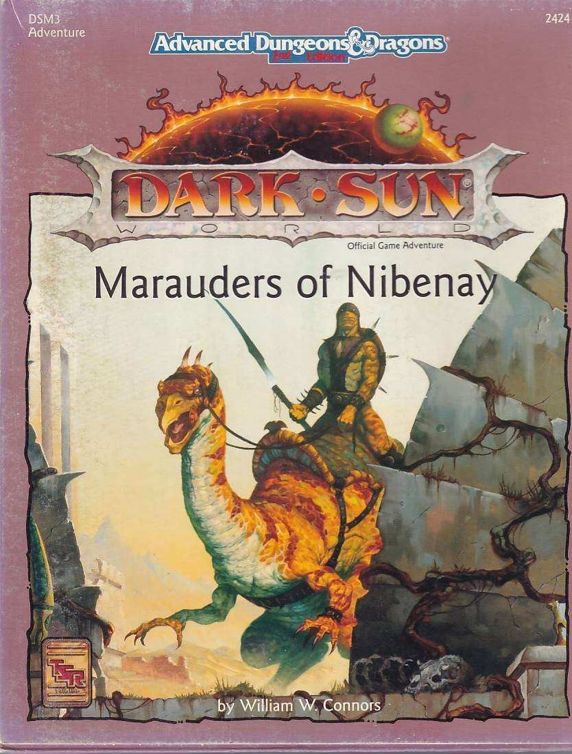 Advanced Dungeons & Dragons 2nd Edition - Dark Sun - Marauders of Nibenay (B Grade) (Genbrug)
