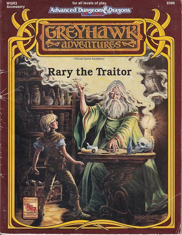 Advanced Dungeons & Dragons 2nd Edition - Greyhawk adventures - Rary the Traitor (Genbrug)