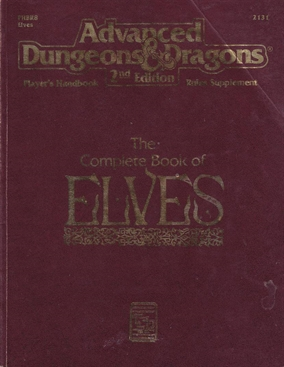Advanced Dungeons & Dragons 2nd Edition - Players Handbook Rules Supplement - The Complete Book of Elves (B Grade) (Genbrug)