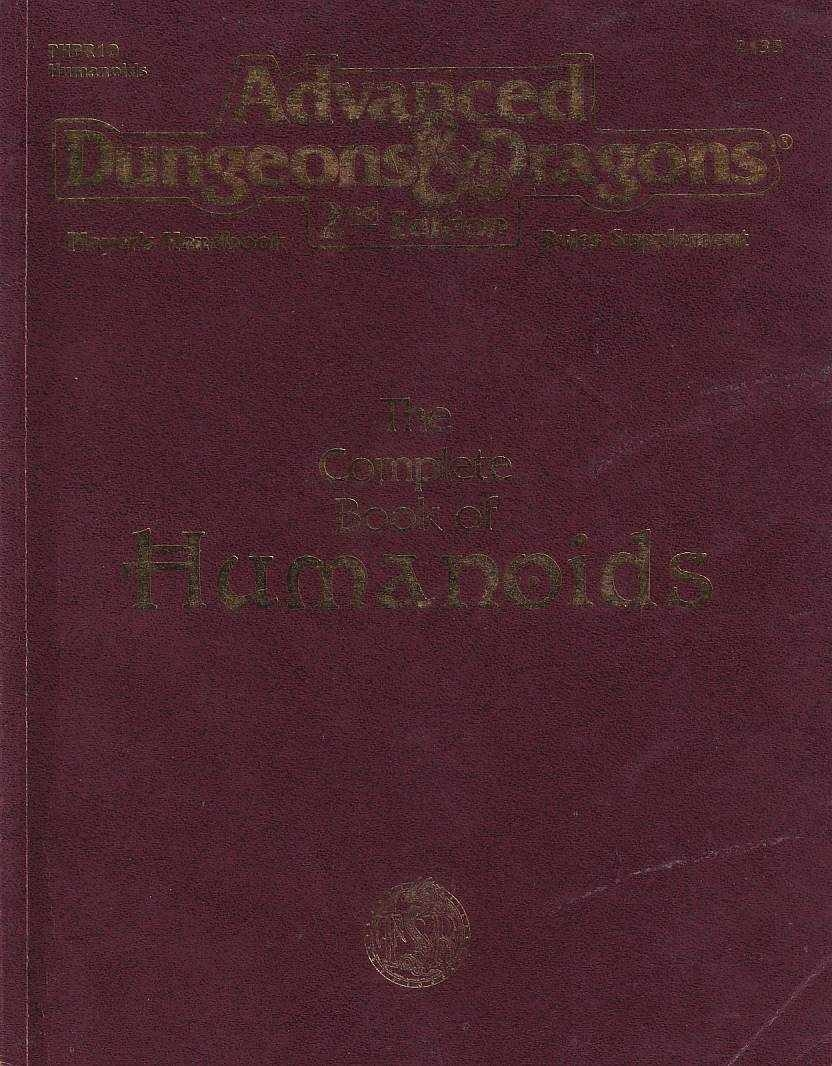 Advanced Dungeons & Dragons 2nd Edition - Players Handbook Rules Supplement - The Complete Book of Humanoids (B Grade) (Genbrug)