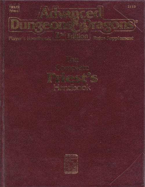 Advanced Dungeons & Dragons 2nd Edition - Players Handbook Rules Supplement - The Complete Priests Handbook (B Grade) (Genbrug)