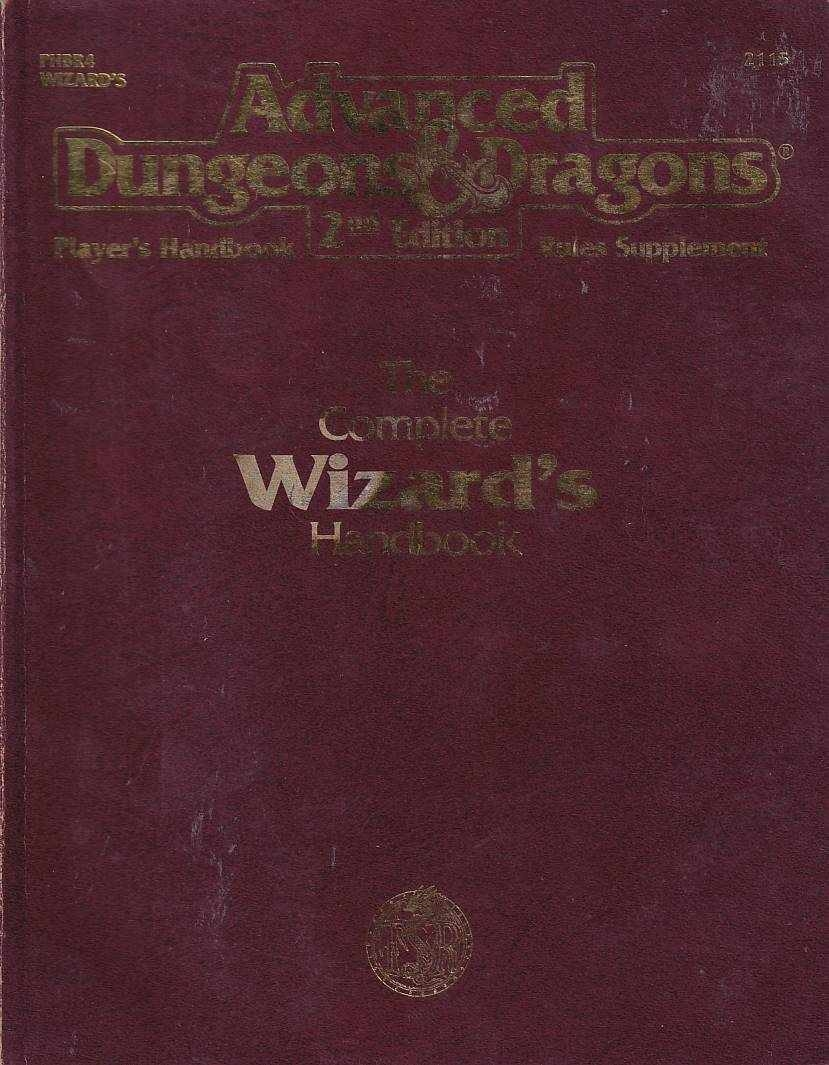 Advanced Dungeons & Dragons 2nd Edition - Players Handbook Rules Supplement - The Complete Wizards handbook