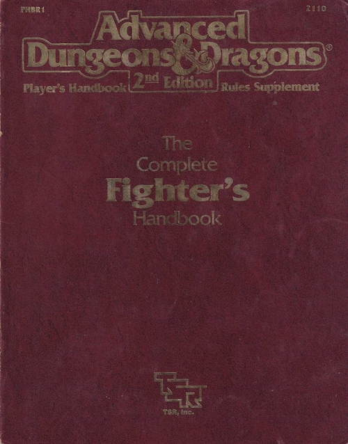 Advanced Dungeons & Dragons 2nd Edition - Players Handbook Rules Supplement - The Complete Fighters Handbook (B Grade) (Genbrug)