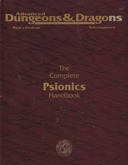 Advanced Dungeons & Dragons 2nd Edition - Players Handbook Rules Supplement- The Complete psionics Handbook (Genbrug)