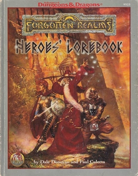 Advanced Dungeons & Dragons 2nd Edition Forgotten Realms Heroes lorebook (Genbrug)