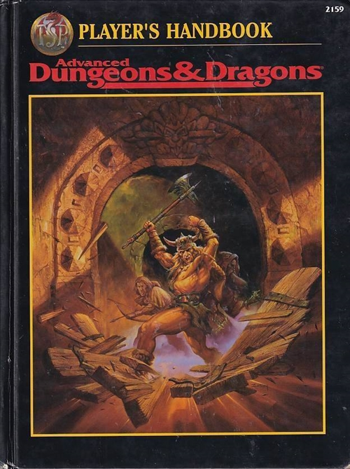 Advanced Dungeons & Dragons 2nd Edition Players handbook (Genbrug)