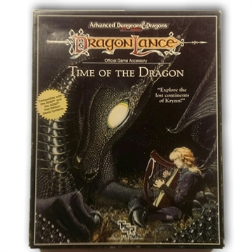 Advanced Dungeons & Dragons 2nd Edition- Dragonlance - Time of The Dragon - Rollespils Box set (Genbrug)