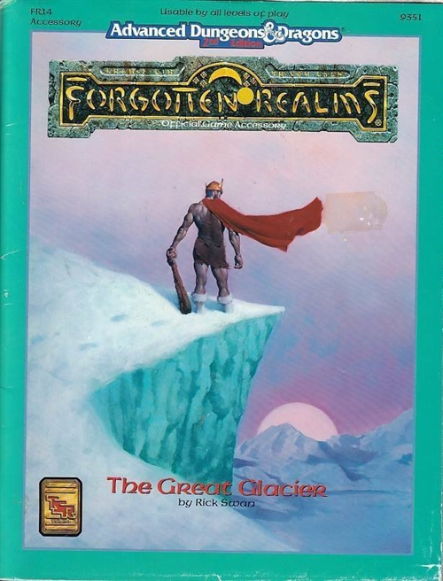 Advanced Dungeons & Dragons 2nd Edition- Forgotten Realms - The Great Glacier (Genbrug)