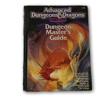 Advanced Dungeons & Dragons 2nd editon - Dungoen Masters Guide- Rollespilsbog (Slidt) (Genbrug)
