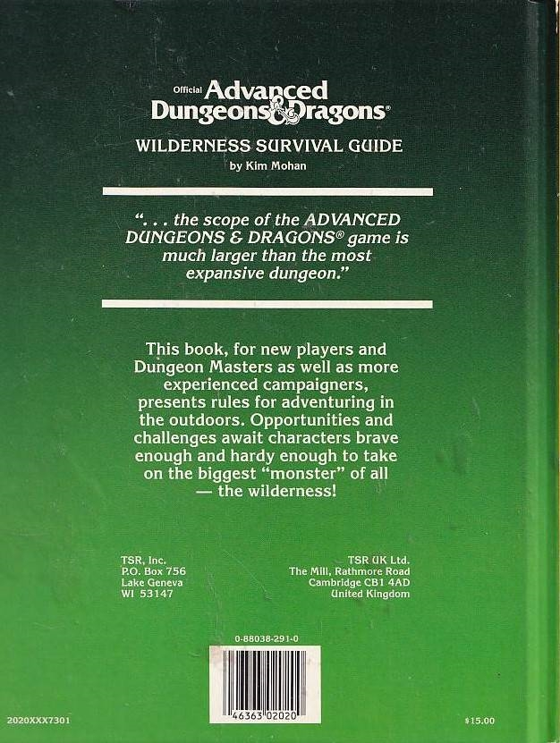 Advanced Dungeons & Dragons Wilderness Survival Guide (Genbrug)