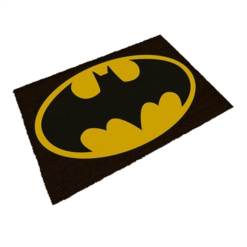 Batman Logo Gul og Sort - Grovmåtte - 43X73cm