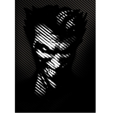 Batman Noir Joker - 32 x 45 cm Metal Skilt