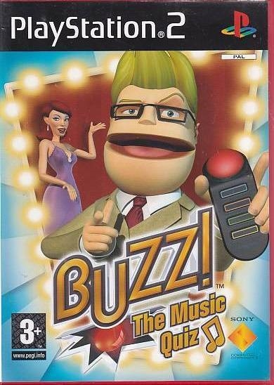 Buzz! The Music Quiz - PS2 (Genbrug)