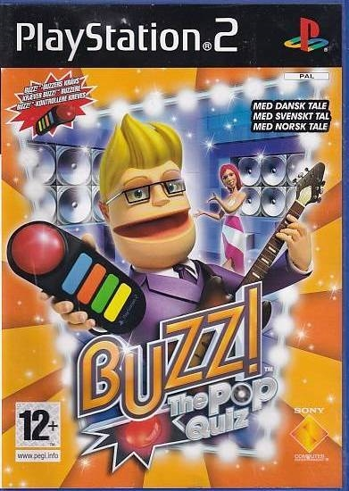 Buzz! The Pop Quiz - PS2 (B Grade) (Genbrug)