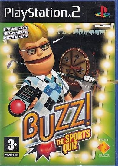 Buzz! The Sports Quiz - PS2 (Genbrug)