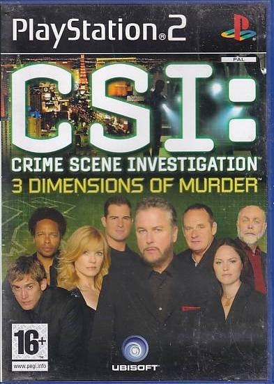 CSI: 3 Dimensions of Murder - PS2 (B Grade) (Genbrug)