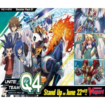 Cardfight!! Vanguard V -  Unite! Team Q4 Booster Box Display (16 Booster Pakke)