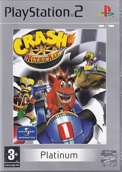 Crash Nitro Kart PS2 - Platinum (Genbrug)