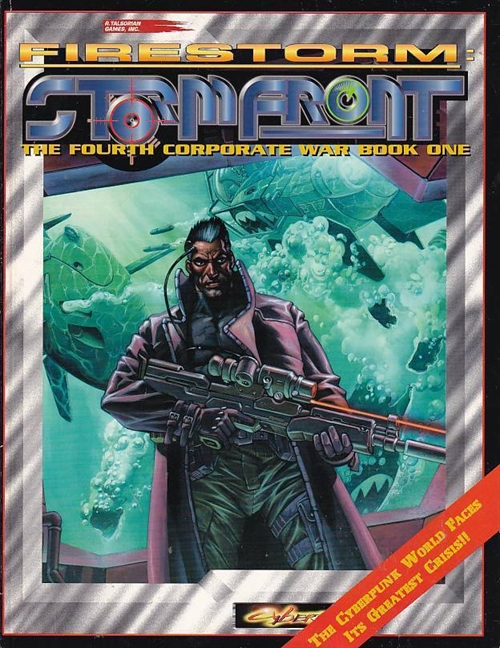 Cyperpunk 2nd ed - Firestorm Stormfront - The Fourth Corporate War Book One (B-Grade) (Genbrug)