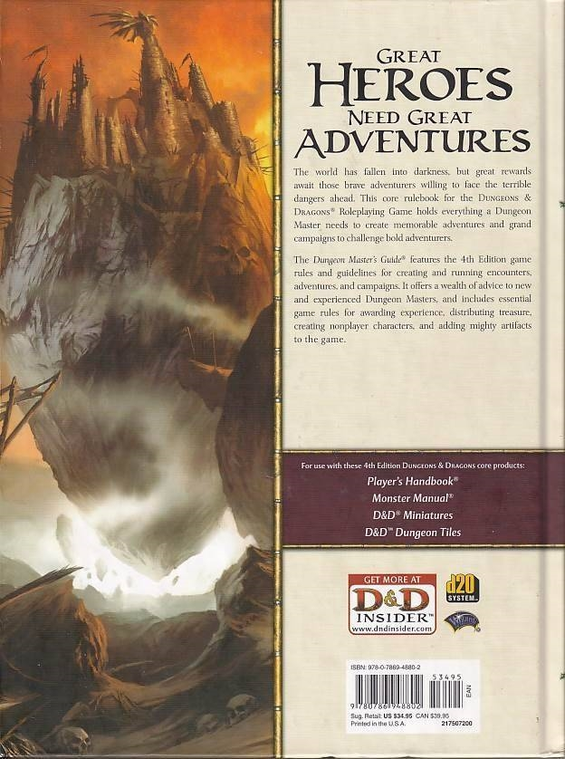 D&D 4th - Dungeons Masters Guide (Genbrug)