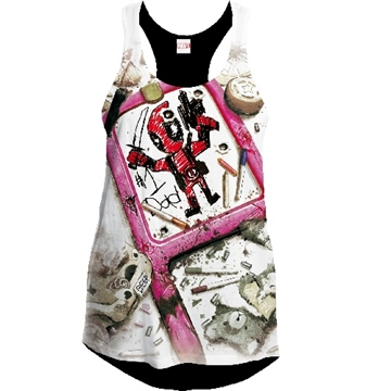 Deadpool Number One Dad - Girlie Tank Top