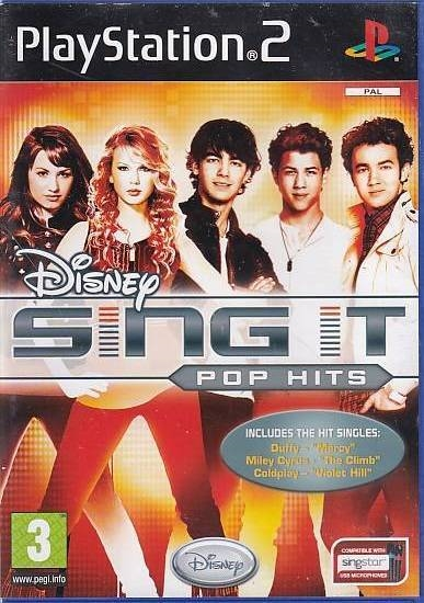 Disney Sing It Pop Hits - PS2 (Genbrug)