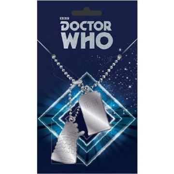 Doctor Who -  Dog Tags med Tardis & Dalek - Halskæde