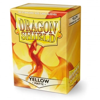 kort tilbehør - Dragon Shield - Matte Yellow - plastiklommer (100 standard Sleeves)