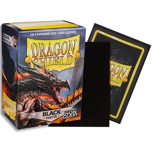 Dragon Shield - Non Glare Matte Black - Plastiklommer (100 standard Sleeves)