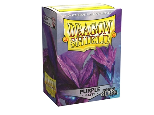 Dragon Shield - Non Glare Matte Purple - Plastiklommer (100 standard Sleeves)