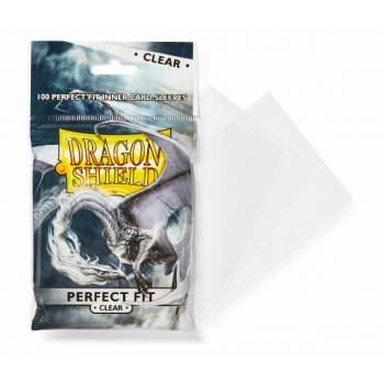 Kort tilbehør - Dragon Shield - Perfect Fit Clear - plastiklommer (100 Standard Sleeves)