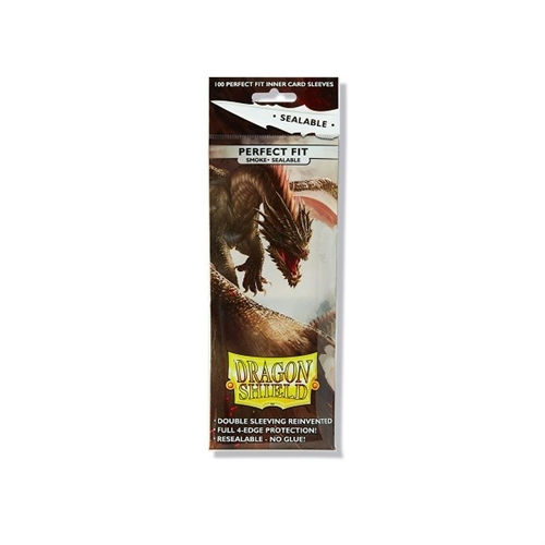 Dragon Shield - Perfect Fit SEALABLE smoked - plastiklommer (100 Standard Sleeves)