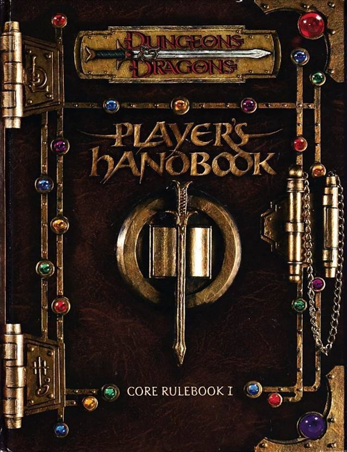 Dungeons & Dragons 3.0 - Core Rulebook 1 -  Players Handbook (C Grade) (Genbrug)
