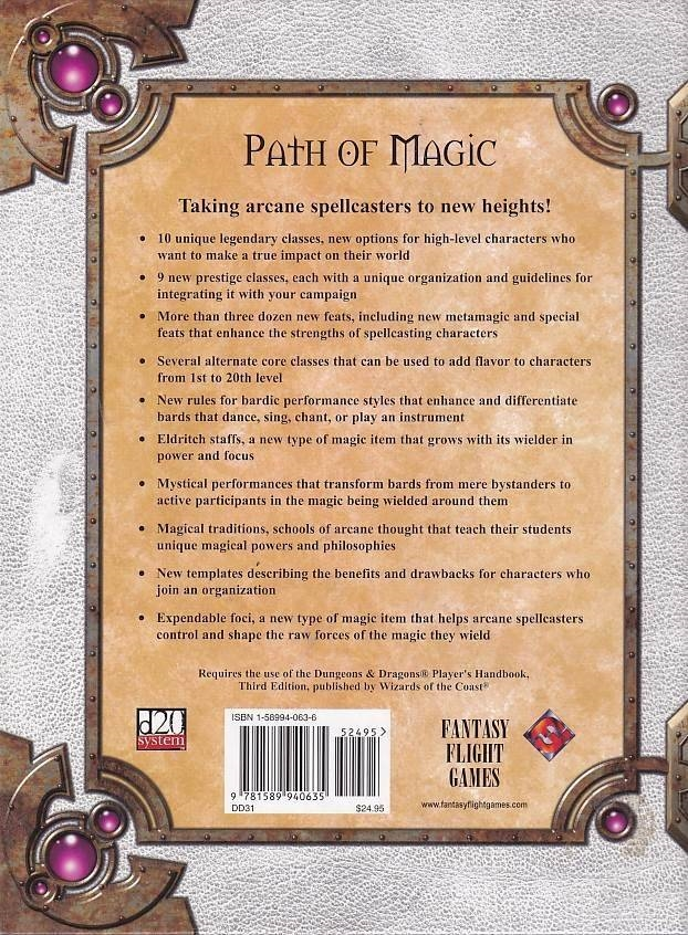 Dungeons & Dragons 3.0 - Path of Magic (Genbrug)