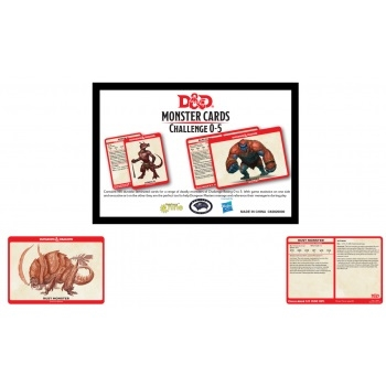 Dungeons & Dragons 5th - Monster Card Deck Levels 0-5 (195 kort)